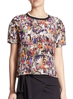 Opening Ceremony  - Niko Girl Collage Silk Top