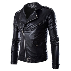 SLSY - Faux-Leather Moto Jacket