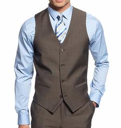 Alfani - Twill Slim-Fit Vest