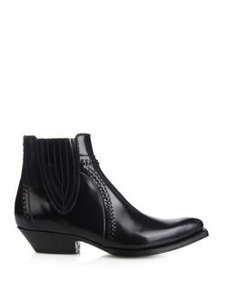 Saint Laurent - Santiag Western Ankle Boots