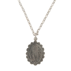 Laurent Gandini - Sterling Silver Medaglietta Necklace