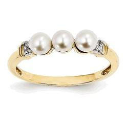 Jewels Obsession - Diamond And Freshwater Cultured Pearl Ring