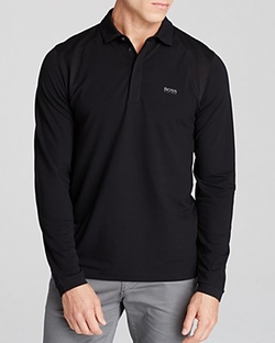 Hugo Boss - Pleesy Piqué Slim Fit Stretch Long Sleeve Polo Shirt