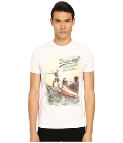 Dsquared2 - Classic Fit Vintage Rainbow Tee
