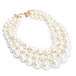 Jerollin - Pearl Chunky Evening Necklace