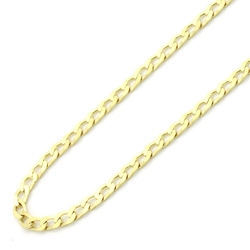 Double Accent - Italian Light Curb Chain Necklace