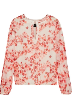 Giambattista Valli - Floral-Print Silk-Chiffon Top