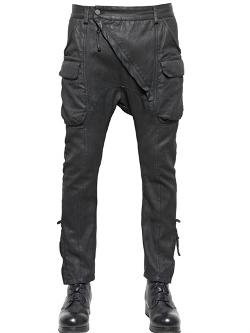 Alexandre Plokhov  - Waxed Cotton & Linen Cargo Trousers