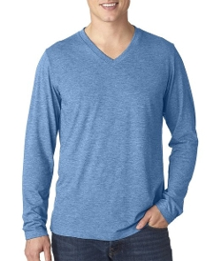 Canvas  -  Tri-Blend Long-Sleeve V-Neck T-Shirt
