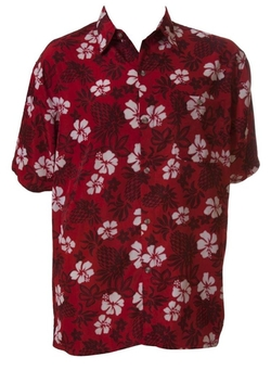 Dagacci - Hawaiian Floral Button Up Shirt