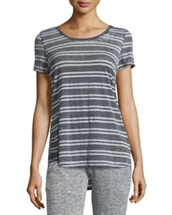 Marc NY Performance  - Striped High-Low T-Shirt