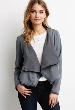 Forever21 - Draped Asymmetrical Front Jacket