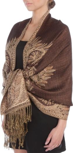 Sakkas - Jacquard Layered Woven Pashmina Shawl