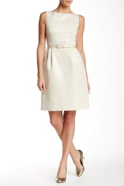 Anne Klein - Jacquard Fit & Flare Dress