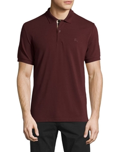 Burberry  - Check-Placket Piqué Polo Shirt