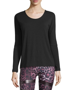 Onzie  - Drapey V-Back Long-Sleeve Athletic Tee