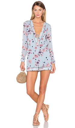 House Of Harlow 1960  - X Revolve Mila Long Sleeve Romper