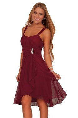 Hot from Hollywood - Sleeveless Sweetheart Layered Sheer Party Dress