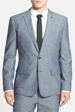 Wallin & Bros.  - Trim Fit Cotton & Linen Sportcoat