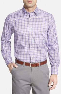David Donahue  - Regular Fit Plaid Twill Sport Shirt