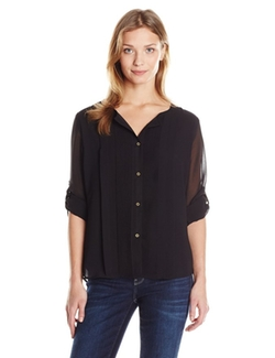Calvin Klein - Pleated Chiffon Top
