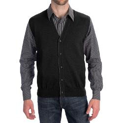 Toscano  - Tipped Merino Wool Sweater Vest