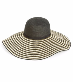 Phase 3  - Striped Floppy Straw Hat
