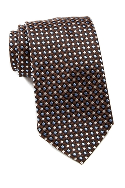 Hugo Boss - Checker Pattern Silk Tie
