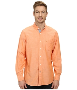 Nautica - Long Sleeve Solid Oxford Shirt