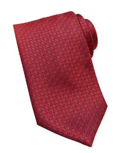 Brioni	  - Circle/Square Neat Silk Tie