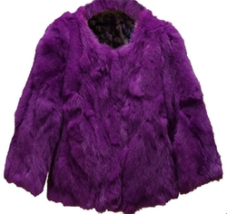 Helan Apparel - Short Real Rabbit Fur Coat