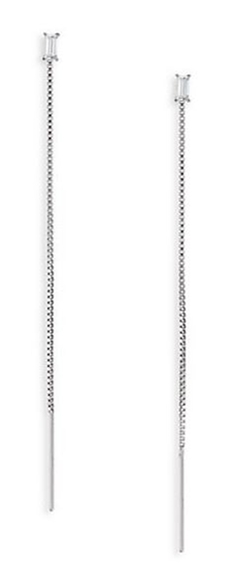 Adriana Orsini - Baguette Chain Threaded Drop Earrings
