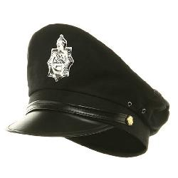 Jacobson Hat Company - Military Police Hat - Black W36S19D