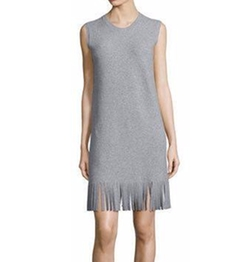 Theory - Rosetty Sleeveless Fringe Dress