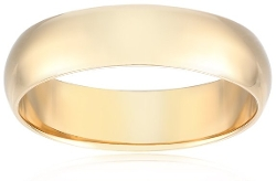 Amazon Curated Collection - Traditional Plain Wedding Band Ring