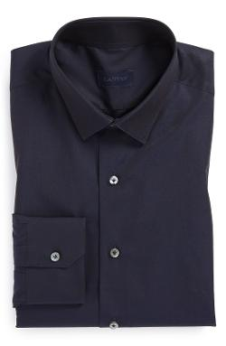 Lanvin  - Fitted Navy Dress Shirt