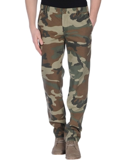 Grey Daniele Alessandrini - Camouflage Casual Pants