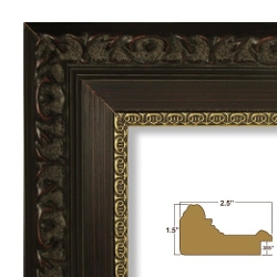 Craig Frames Inc. - Mahogany Red and Gold Picture / Poster Frame