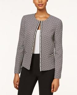 Tahari ASL - Tweed Studded Jacket