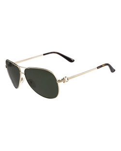 Salvatore Ferragamo - Monochromatic Aviator Sunglasses