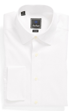 David Donahue - French Cuff Trim Fit Dress Shirt