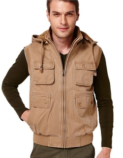 King Ma  - Mens Casual Hoodie Slim Winter Vest