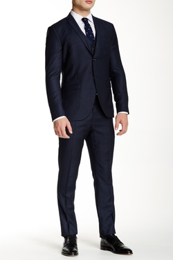 Tiger of Sweden  - Two Button Notch Lapel Wool Three Piece Suit