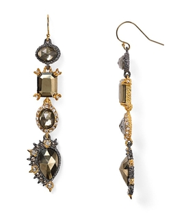 Alexis Bittar  - Crystal Studded Spur Trimmed Doublet Earrings