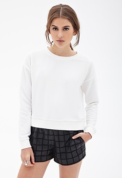 Forever 21 - Ribbed Knit Sweatshirt