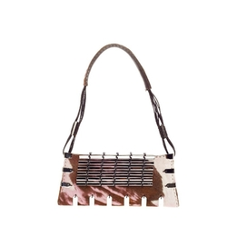 VBH - Embellished Pony Hair Shoulder Bag