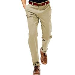 Haggar - Performance Cotton Straight-Fit Comfort Flex Waist Pants