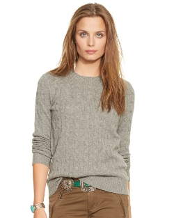 Ralph Lauren - Slim-Fit Cabled Cashmere Sweater