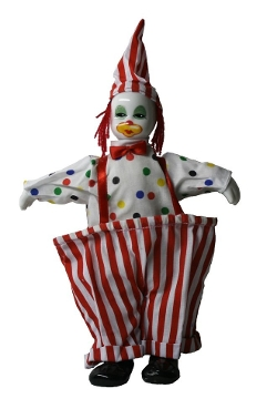 Joiner Co. - Clown Porcelain Doll