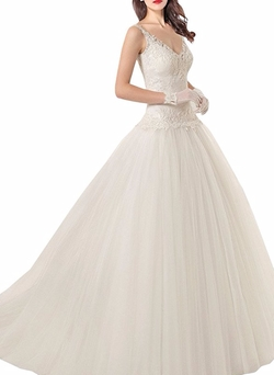 Manborunt - V-Neck Wedding Dress